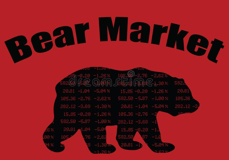 Bear Market - The Market Is Going Down royalty free stock image