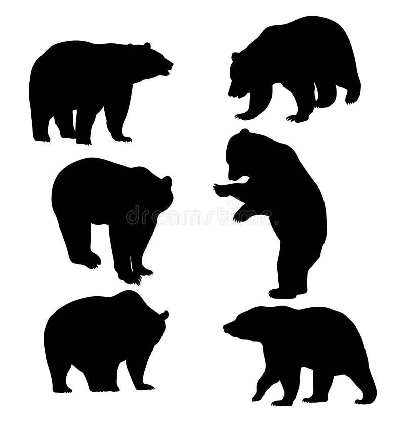 Bear Silhouette Animal royalty free illustration