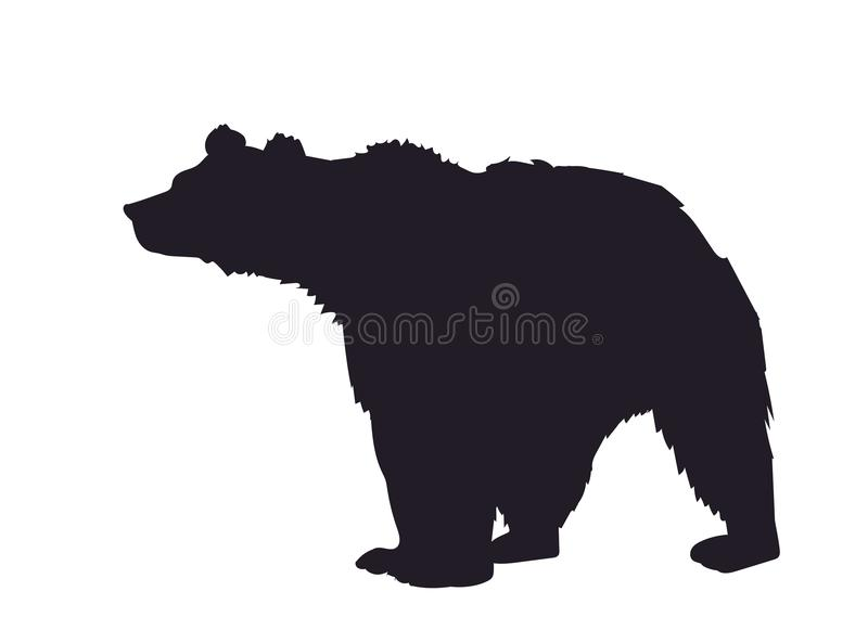 Bear, silhouette, vector royalty free stock photos