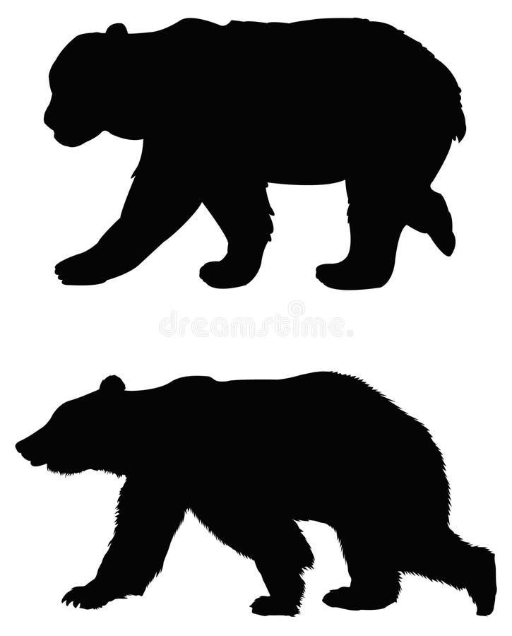Bear silhouette stock illustration