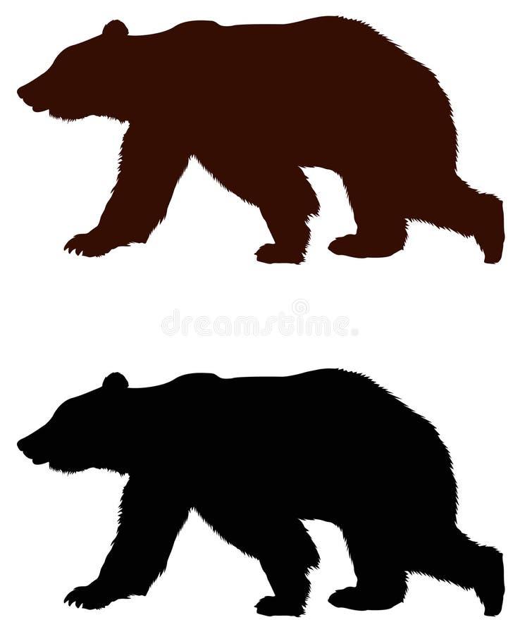 Bear silhouette vector illustration