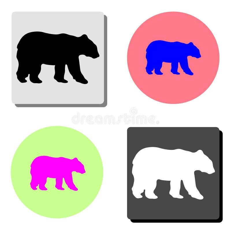 bear. flat vector icon royalty free illustration