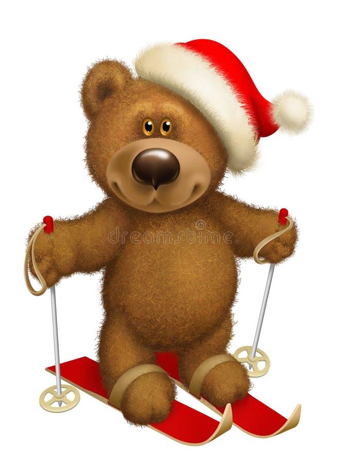 Download Bear skiing stock illustration. Image of gift, skiing - 36130853