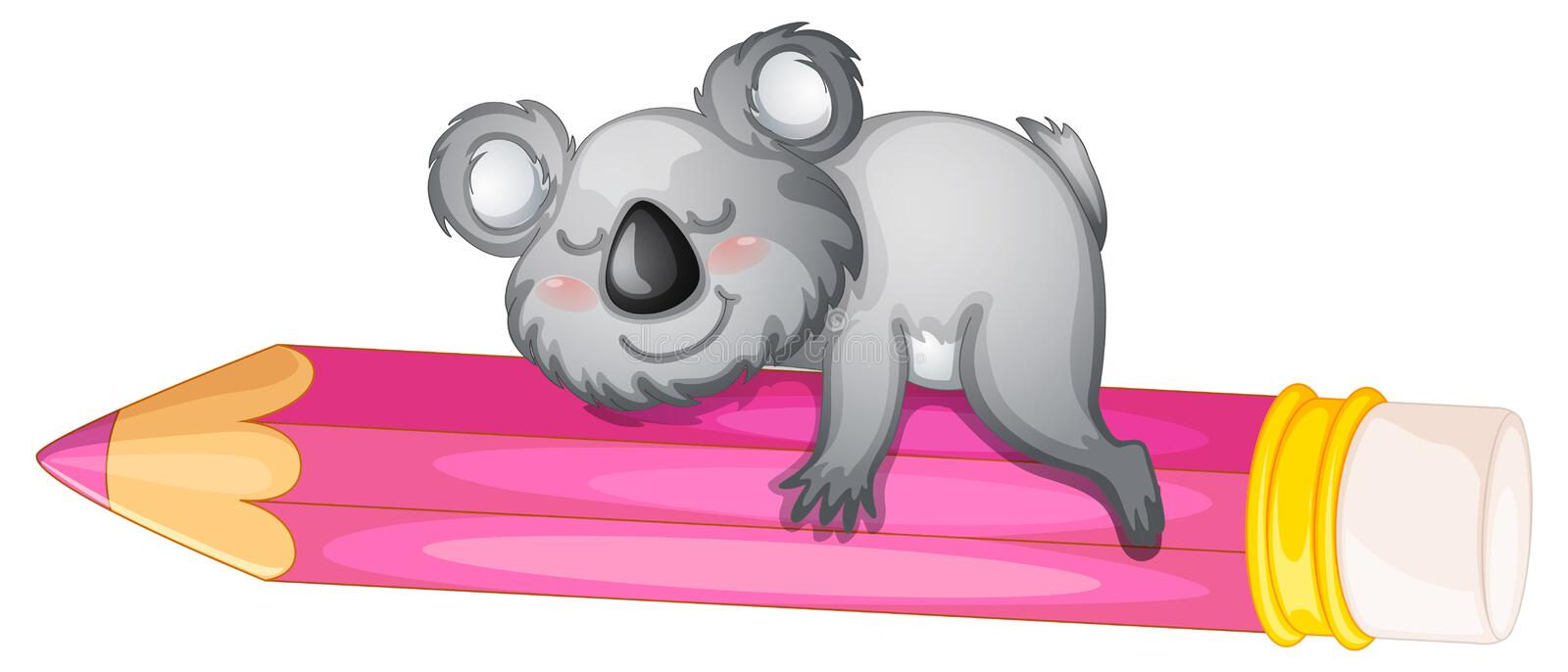 Download Bear sleeping on pencil stock vector. Image of holding - 26352243