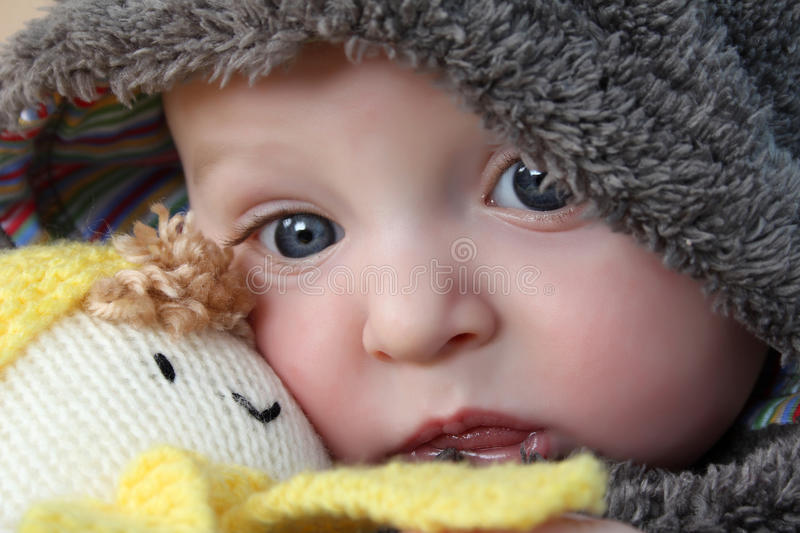 Bear Suit Baby royalty free stock photography