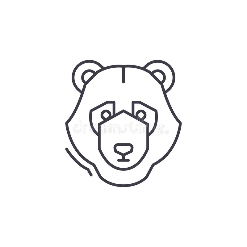 Bear trend line icon concept. Bear trend vector linear illustration, symbol, sign royalty free illustration