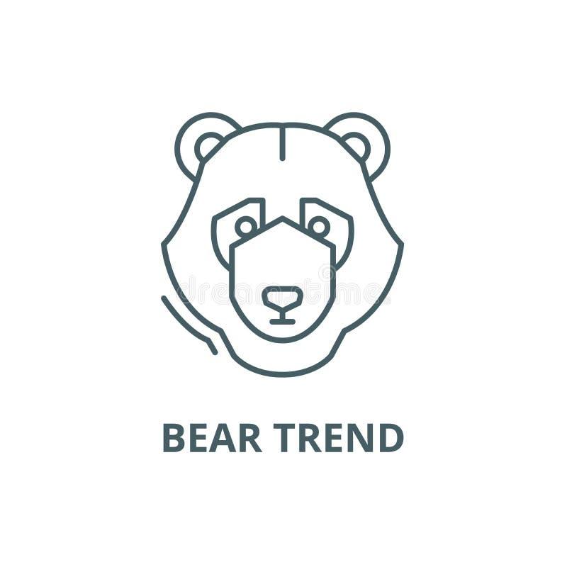Bear trend line icon, vector. Bear trend outline sign, concept symbol, flat illustration vector illustration