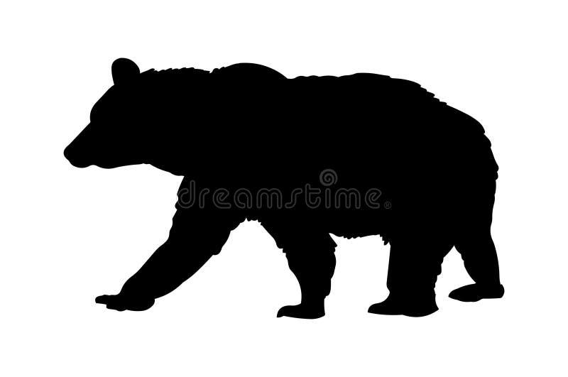 Bear vector illustration black silhouette vector illustration