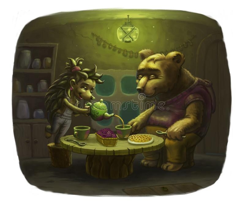 Dear guest bear stock images