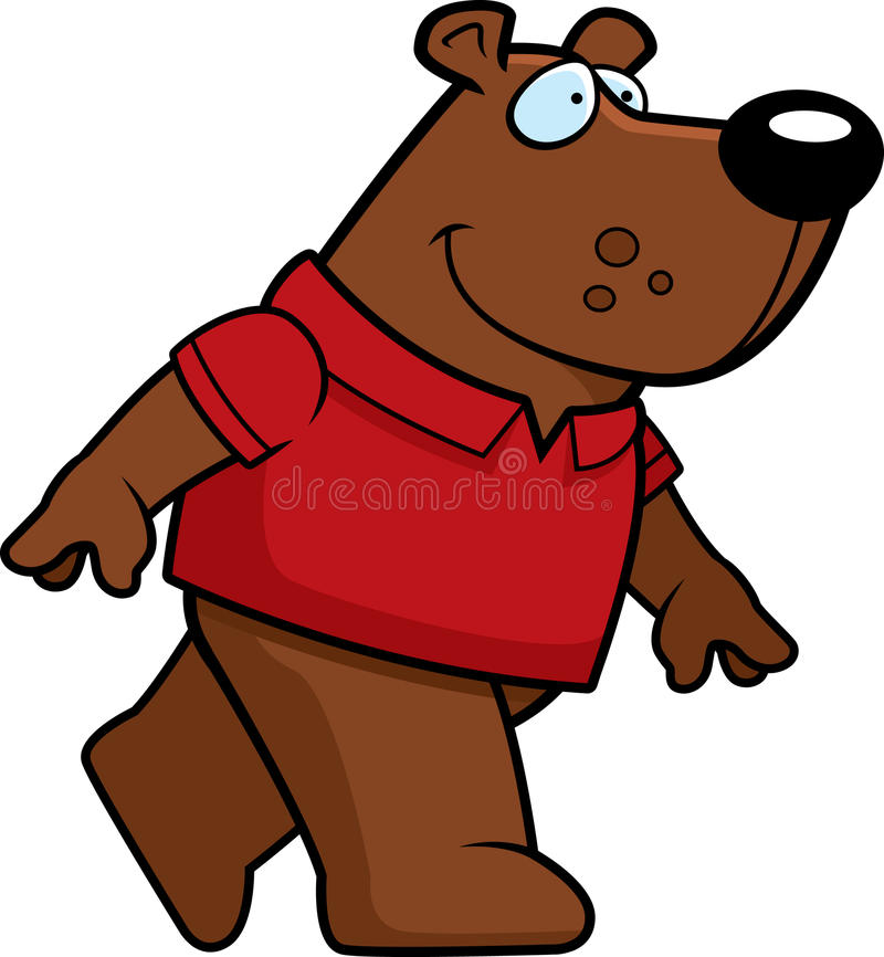 Bear Walking Royalty Free Stock Photo