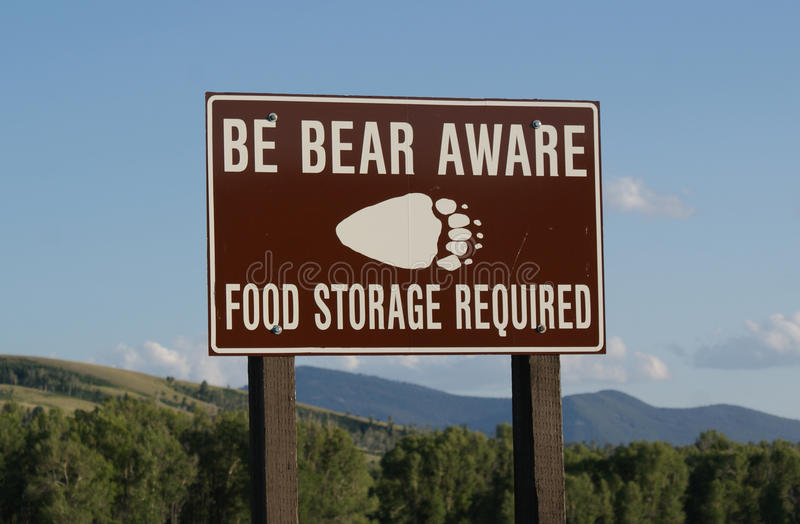 Download Bear Warning Sign stock photo. Image of nature, warning - 13363696