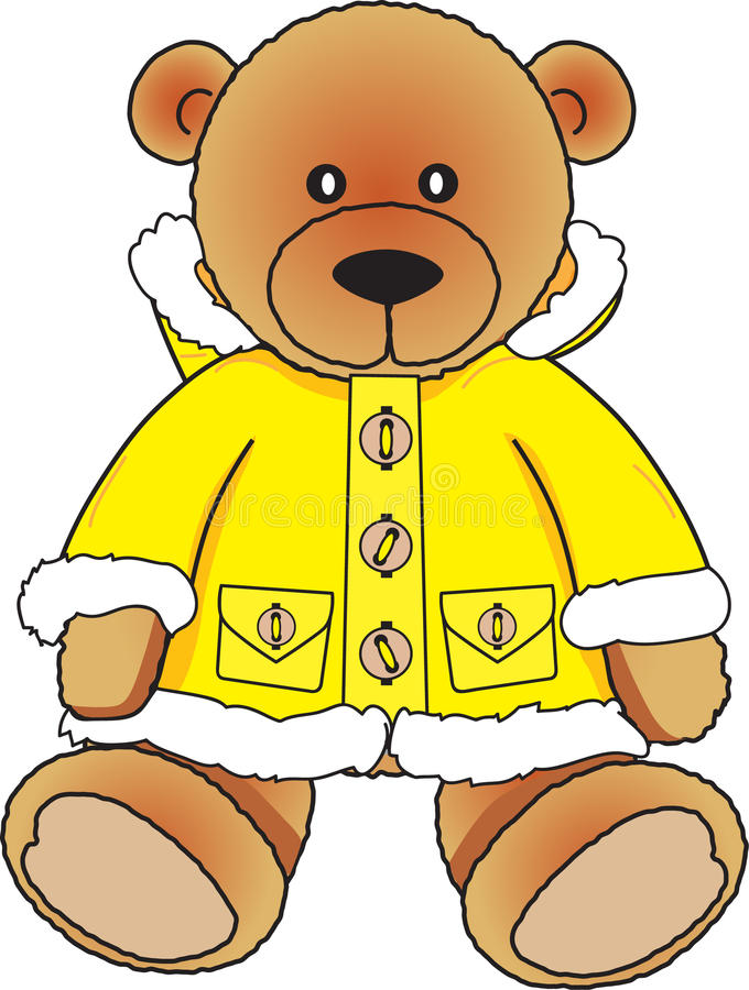 Download Bear in yellow fur coat stock vector. Image of togs, yellow - 12941683