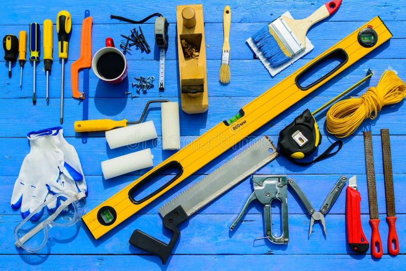 Bearbeitet Erbauerausrüstung lizenzfreies stockfoto