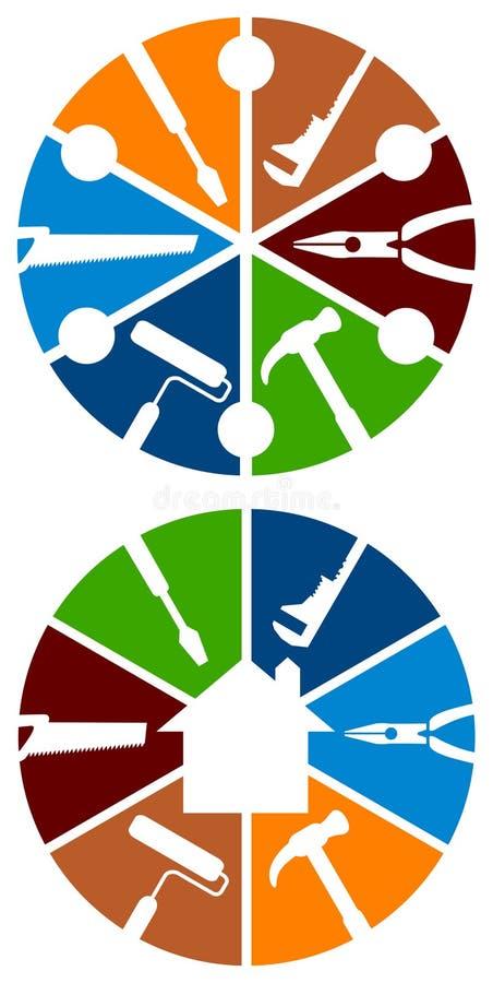 Bearbeitet Logo lizenzfreie abbildung
