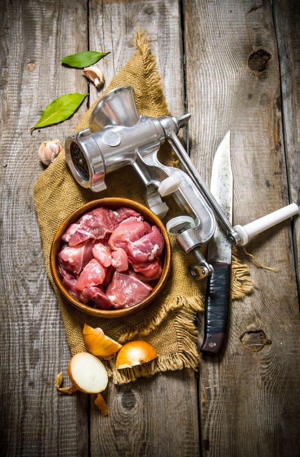 Bearbeta av kött royaltyfri foto