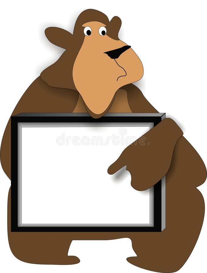 Download Bearboard stock vector. Image of clip, graphic, caption - 8546035