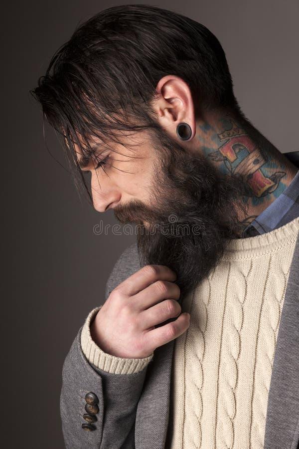 Free Beard And Tatoos Stock Image - 58745591