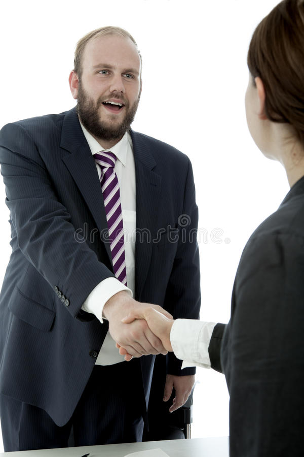 Download Beard Business Man And Woman Handshake Stock Image - Image of greeting, executive: 26244025