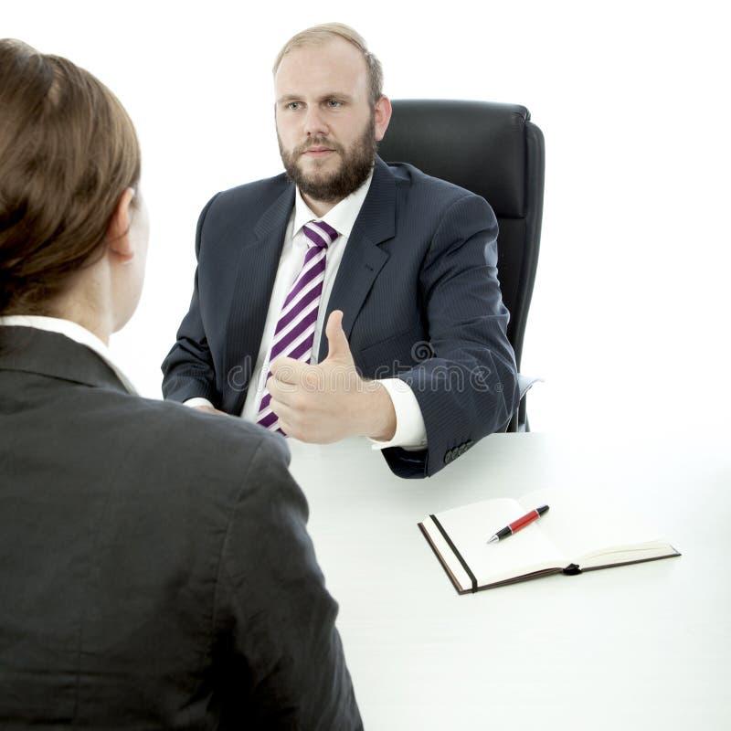 Download Beard Business Man And Woman Sign Good Work Stock Image - Image: 26244027
