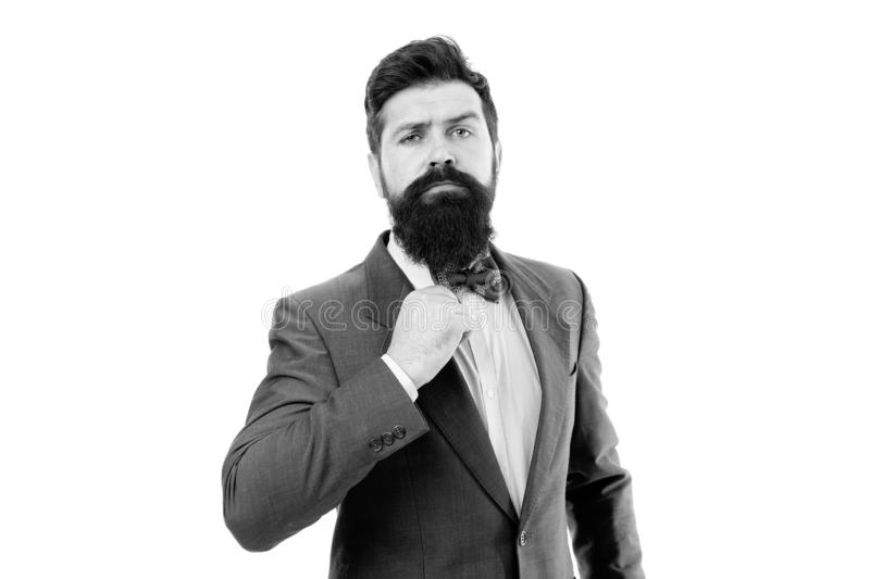 Beard care for real man. modern business success. hipster with beard has own business. bearded businessman in formal royalty free stock photography