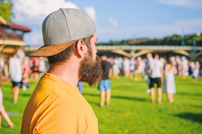 The beard with depth and texture. Unshaven hipster with textured beard hair. Bearded man with stylish mustache and beard royalty free stock images