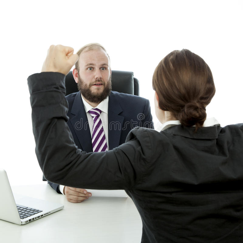 Download Beard Man And Brunette Woman Arms Air Stock Photo - Image of female, businesspeople: 26244022