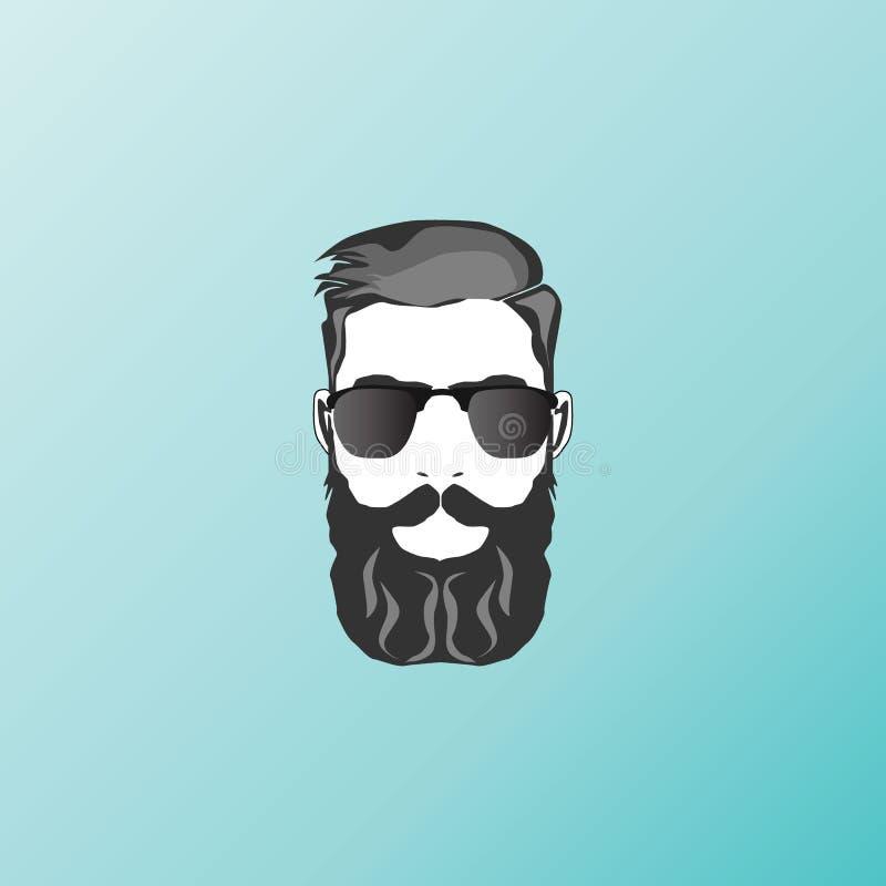 Beard man face. Icon royalty free illustration