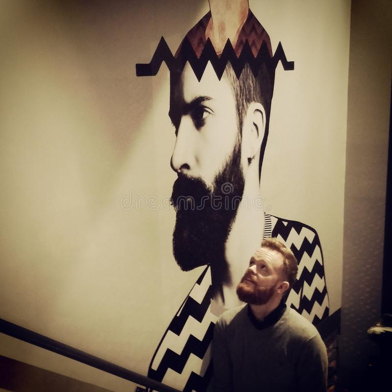 Beard Mural Drygate Brewery Glasgow stock image