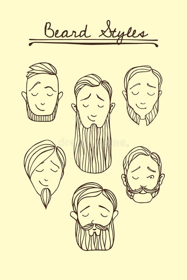 Beard styles illustration vector illustration