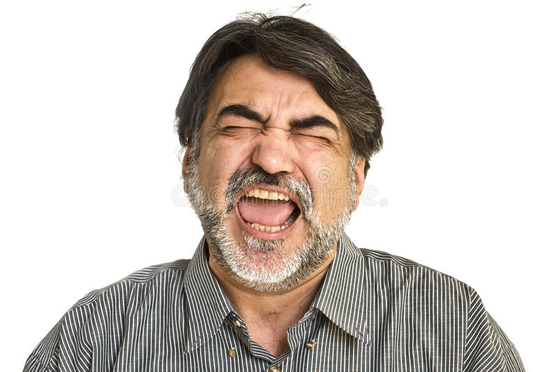 Download The  bearded angry  man stock image. Image of face, mood - 11749011