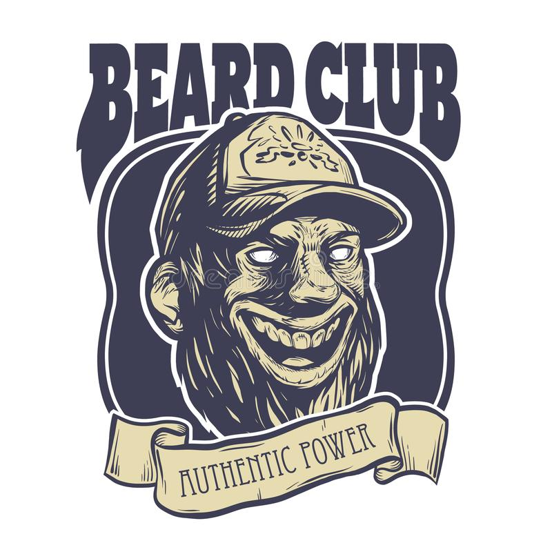 Bearded male head. Logo template stock photography