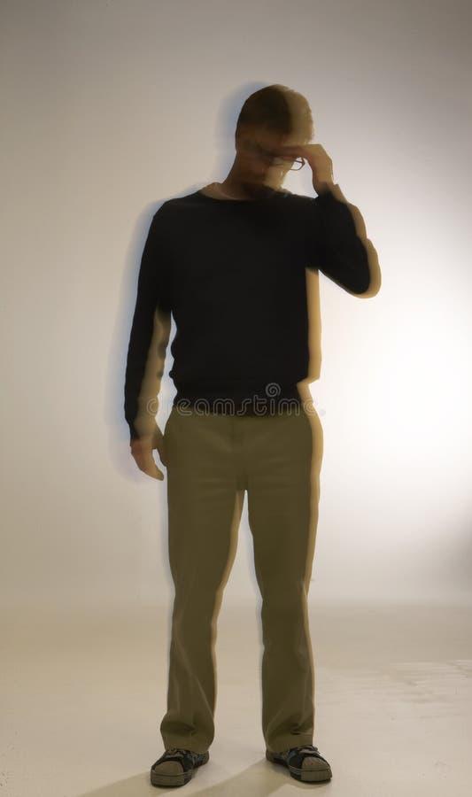 Bearded Man alone royalty free stock photos