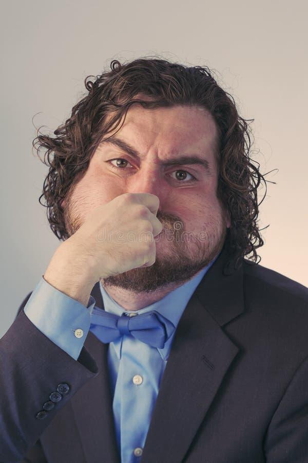 Free Bearded Man Holding Breath Royalty Free Stock Image - 65672986