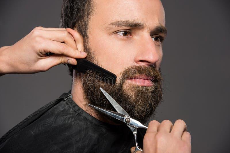 Bearded man stock image