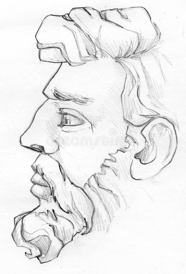 Download bearded man pencil sketch stock illustration illustration of people 51566727