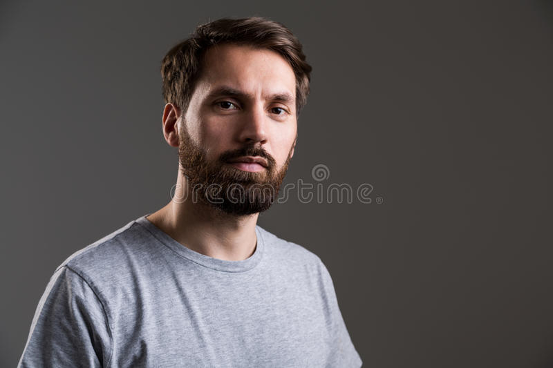 Bearded man portrait stock photo