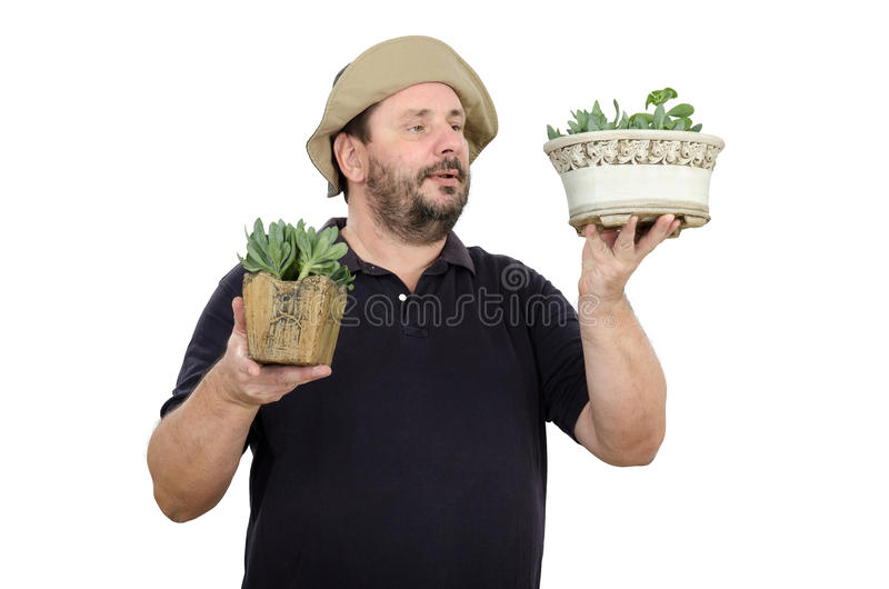 Download Bearded Man Is Seller In Flower Shop Stock Image - Image: 38305281
