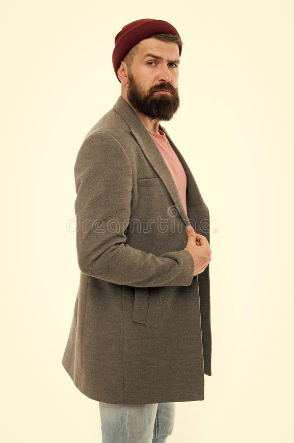 Bearded man. serious man isolated on white. Mature hipster with beard. Male barber care. brutal caucasian hipster with. Moustache. Fashion man with beard. Male royalty free stock photo