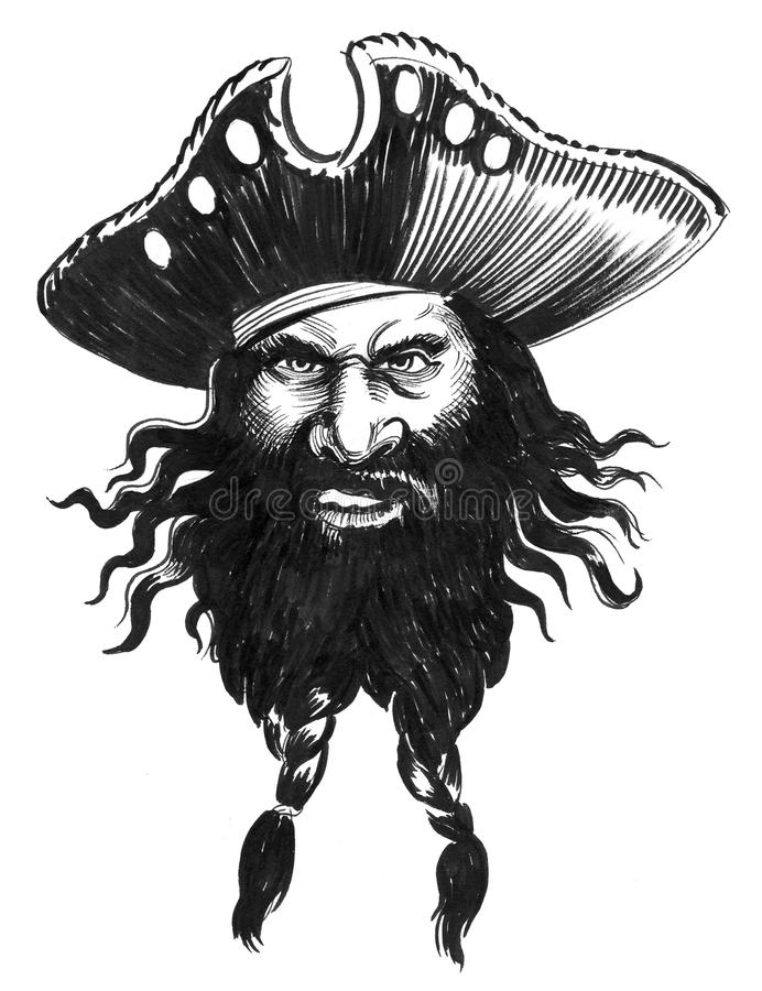 Bearded pirate vector illustration