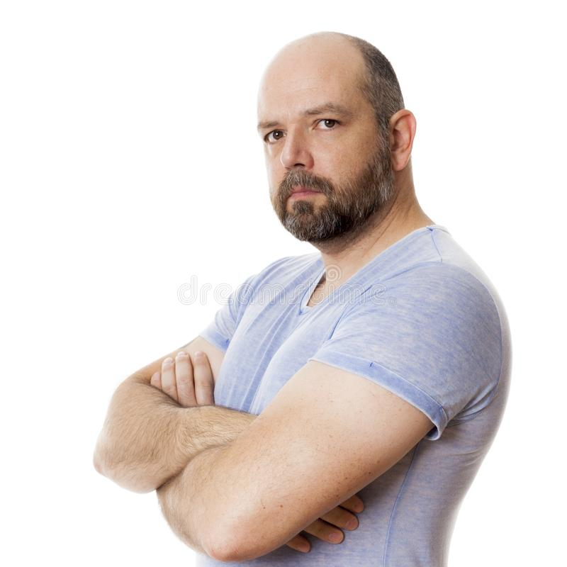Bearded strong man portrait royalty free stock photos