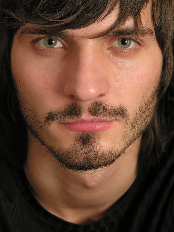 Beardman Gesicht lizenzfreies stockbild