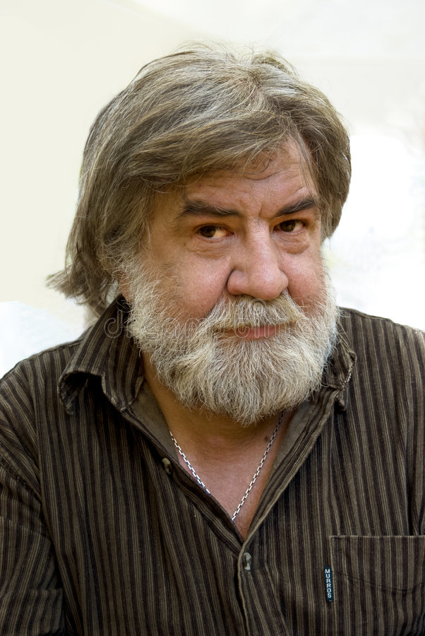 beardy pensionär royaltyfria bilder