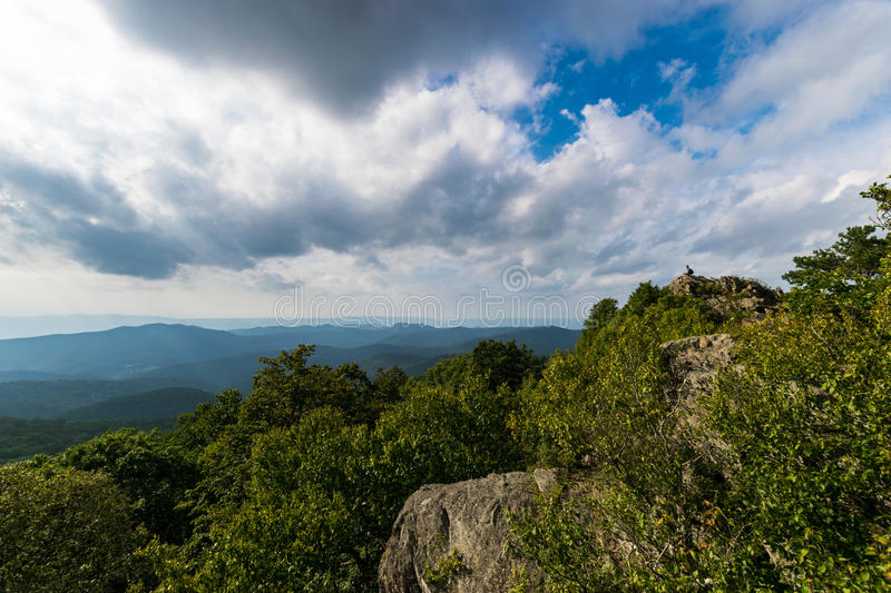 Bearfence Mountain Landscape in Shenandoah National Park, Virgin stock image
