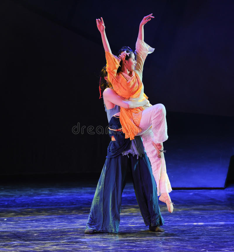 Bearhug -The dance drama The legend of the Condor Heroes. In December 2, 2014, a large Chinese dance drama the legend of the Condor Heroes for the first time to stock image