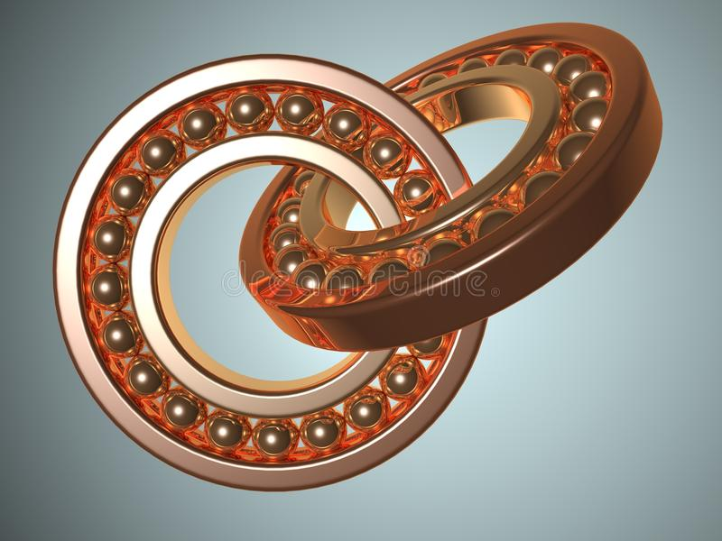 Download Bearing stock illustration. Illustration of dimensional - 9952704