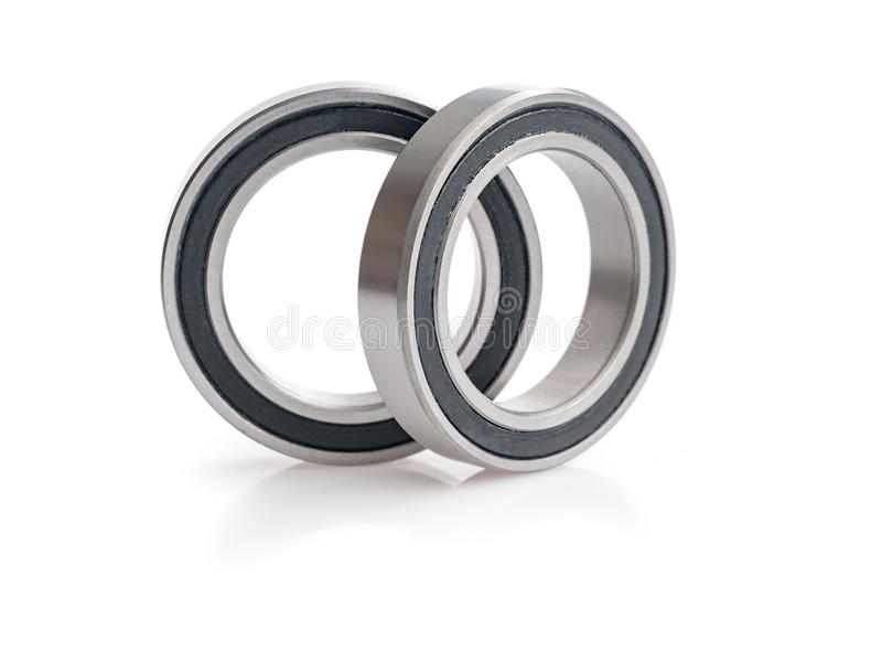Bearing close-up isolated over white. The bearing close-up isolated over white stock images