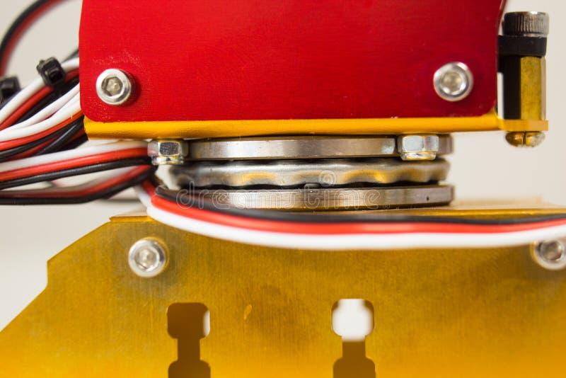 Bearing rotation of mechanic arm stock photos