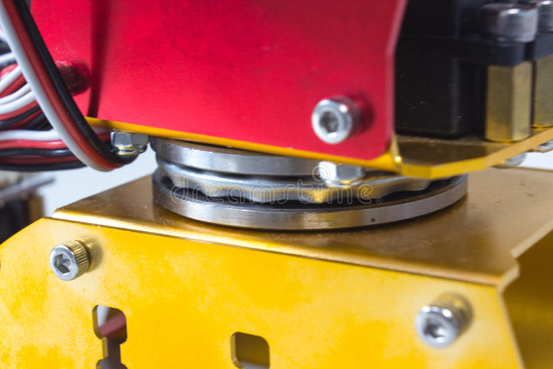 Bearing rotation of mechanic arm royalty free stock photography