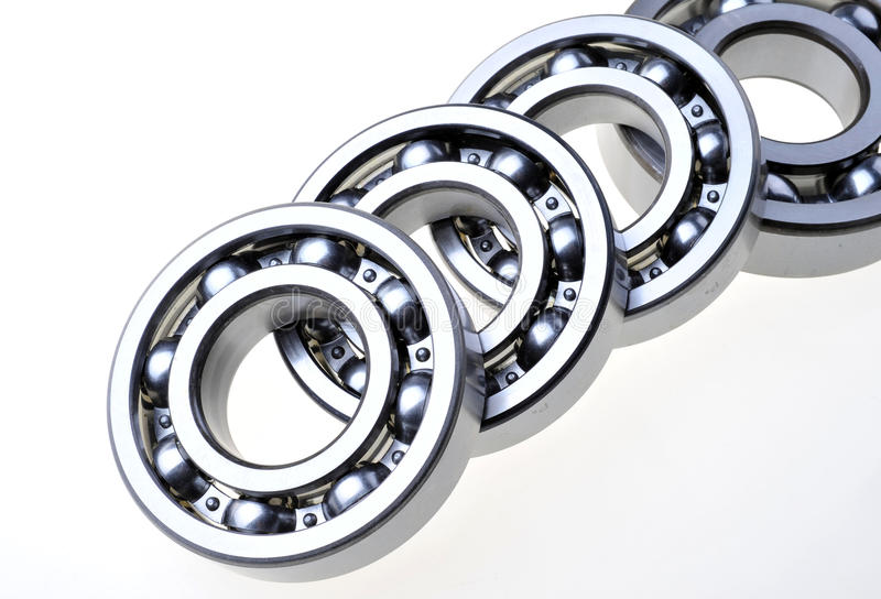 BEARINGS. In some bearings on a white background royalty free stock photography
