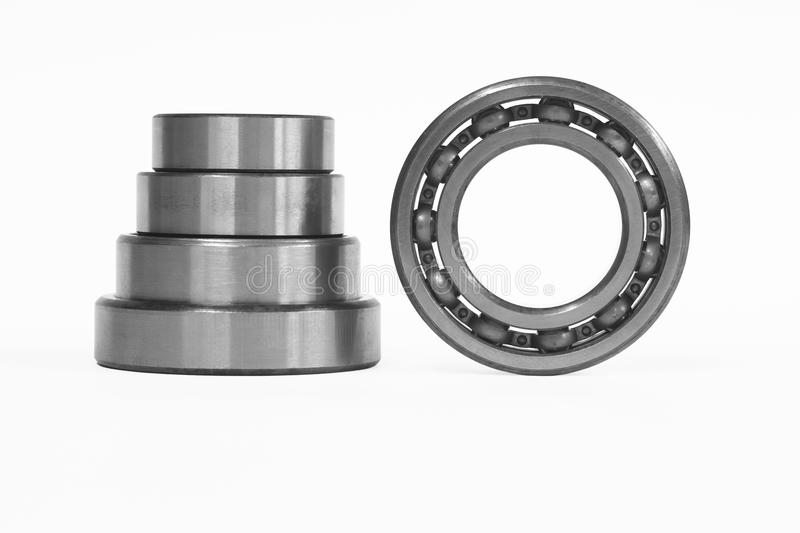 Bearings. This photo shows the bearings on a white background royalty free stock images